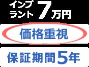 インプラント7万円